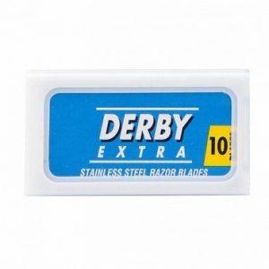 Двусторонние сменные лезвия для бритья Derby Extra Blue. Подходят на любые шаветки и Т-образные бритвы