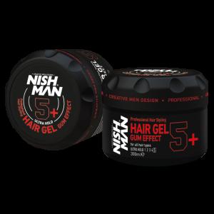 Гель для укладки волос NISHMAN Ультрафиксация GUM EFFECT 5+, 300 мл