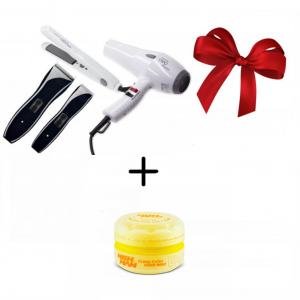 Набор парикмахерский MOSER NEO KIT 1886-0105 — машинка, триммер, фен, плойка, сумка + Цветной воск в подарок