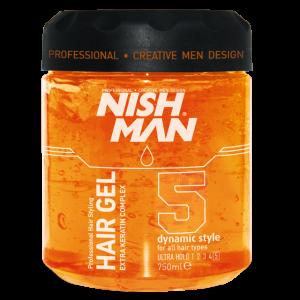 Гель для укладки волос NISHMAN Экстра сильной фиксация 5, 750 мл
